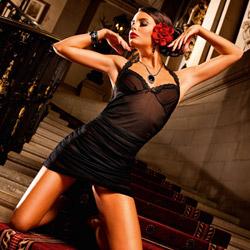 Lace halter dress - mini dress