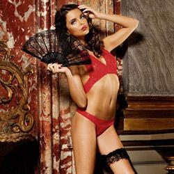 Two-piece lace set - bra and panty set