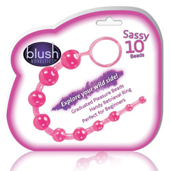 Anal beads with loop handle - Sassy anal beads - view #2