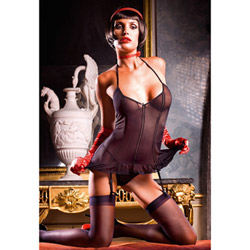 Two-piece garter dress set - camisole
