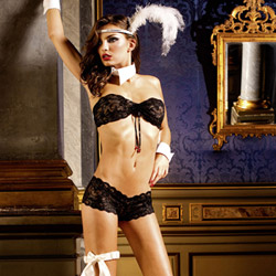 Lace boyshort set - bra and panty set