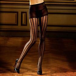 Triangle pattern jacquard pantyhose