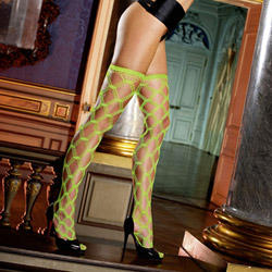 Diamond net thigh high - hosiery
