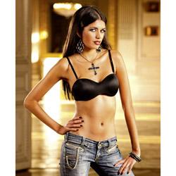 Black four-way convertible bra