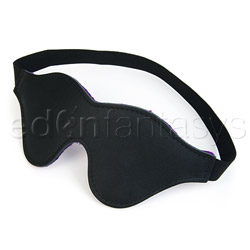Purple fur blindfold - sex toy