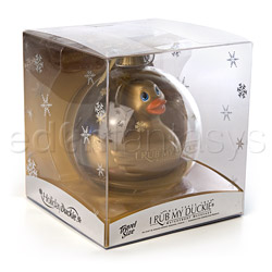 Discreet massager - Holiday ball gold duckie - view #6
