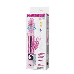 Rabbit vibrator - Rechargeable throbbing petite bunny - view #6