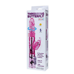 Rabbit vibrator - Rechargeable throbbing butterfly - view #6