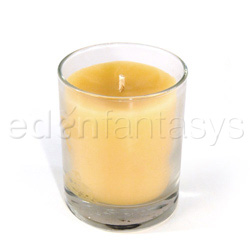 Beeswax aromatherapy candle in a jar