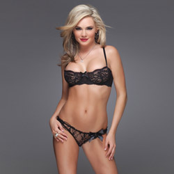 Lace bra and panty set - sexy lingerie