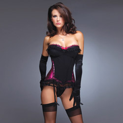 Satin bustier - sexy lingerie
