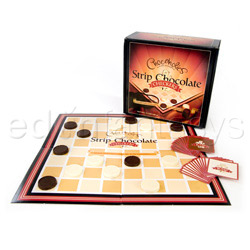 Strip chocolate checkers - adult game