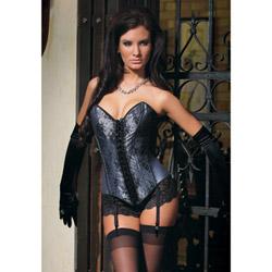 Satin lace corset
