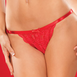 Red crotchless panty