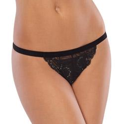 Stretch lace crotchless panty