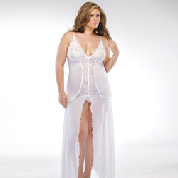 Blushing brides gown and g-string