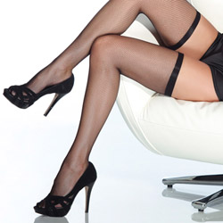 Fishnet thigh high stockings - thigh highs