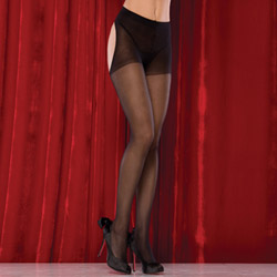 Sheer thong back pantyhose