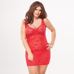 Lace tank top dress - mini dress