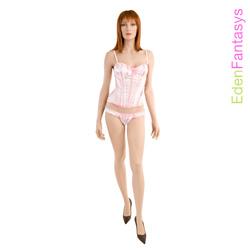 Polka dot passion corset with thong - corset and panty set