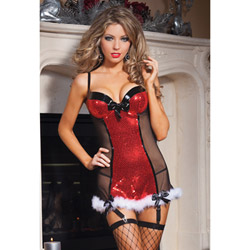 Holiday sequin chemise