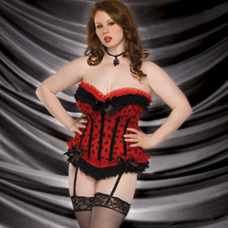 Bow mesh corset