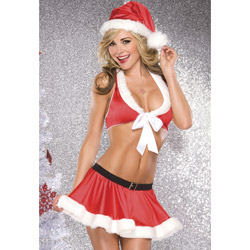 Santa top and skirt costume