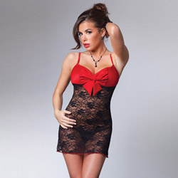 Lace chemise with padded top