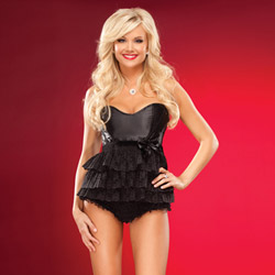 Satin multi-layered babydoll