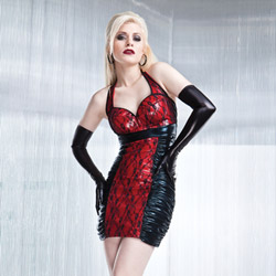 Wetlook halter top dress - sexy lingerie