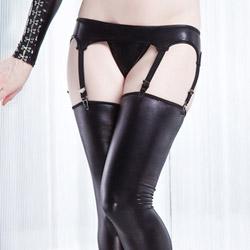 Wetlook garter belt