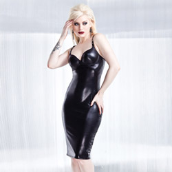Wetlook dress with molded cups