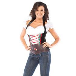 Beer girl bustier - costume
