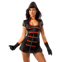 Darque military girl - sexy costume