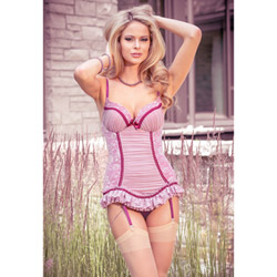 Vintage Rose bustier and g-string