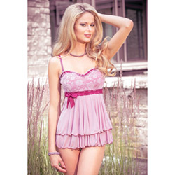 Vintage Rose babydoll and g-string - babydoll and panty set