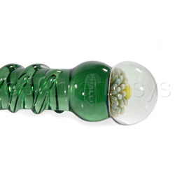 Glass G-spot shaft - Colorful spiral wrapped G-spot wonder - view #4