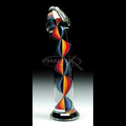 Candy cane filligrino g-spot - Glass G-spot shaft