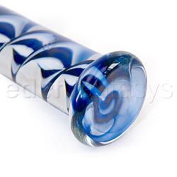 Dildo de vidrio - Inside out filligrino shaft glass dildo - view #4