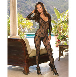 Lace long sleeved bodystocking