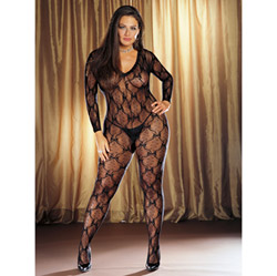 Lace long sleeved bodystocking - sexy lingerie