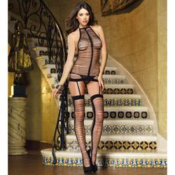 Black garter dress - chemise