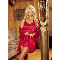 Red robe and babydoll - bed jacket