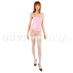 Lacquer print corset set - corset and panty set