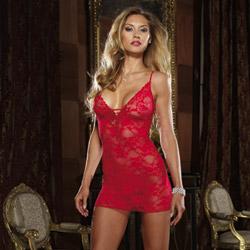 Red lace courtesan chemise