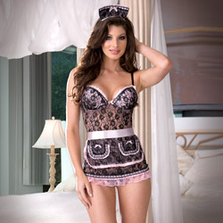 Naughty in Paris lace babydoll - sexy costume