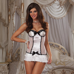 Carried away chemise and thong