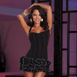 Ruffled dress and thong - mini dress