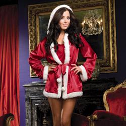Santa robe set - bed jacket