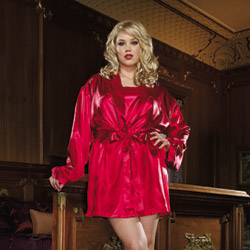 Heart robe with matching chemise - bed jacket